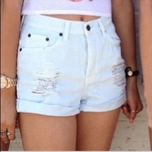 Brandy Melville high rise shorts
